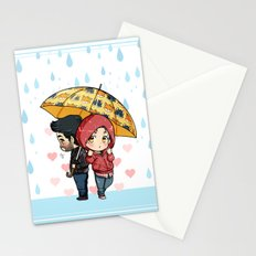 Under my Umbrella (Reverse Version) Stationery Cards