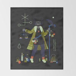 Witch Series: Potions Throw Blanket