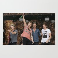 one direction Area & Throw Rugs featuring One Direction by behindthenoise