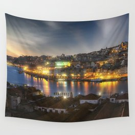 Panoramic Porto Potugal Wall Tapestry