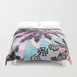 Tropical Adventure in Pink Duvet Cover