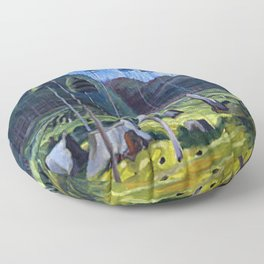 Odds And Ends Emily Carr Floor Pillow