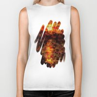 sunset Biker Tanks featuring Sunset  by Aloke Design