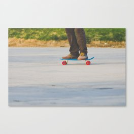 Lil Skateboard Canvas Print
