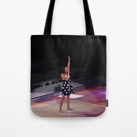 glee Tote Bags featuring Glee Concert: Lea Michele by Jackie Lalumandier