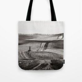 Hills from Val d'Orcia, Tuscany Tote Bag