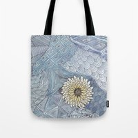 daisy Tote Bags featuring Daisy by sinonelineman