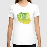 poland T-shirts featuring Poland by Stephanie Wittenburg