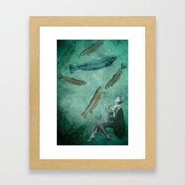 Smell of the sea Framed Art Print