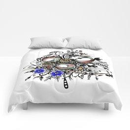 Pen and Ink Drawing --APPLES---colorful art, watercolor art, digital art Comforters