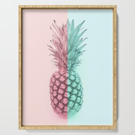 Double Pineapple Serving Tray