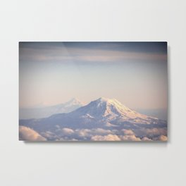 Mountain Peaks from Above Metal Print
