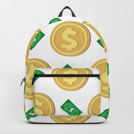 Dollar pattern background Backpack