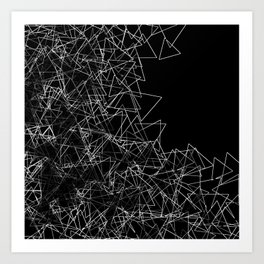 Oragami (triangular) Art Print