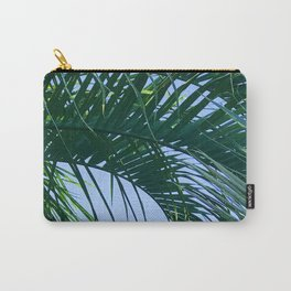 Exquisite, Curling Palm Leaf in Blue Sky Carry-All Pouch