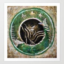 Starbucks (oil on canvas) Art Print
