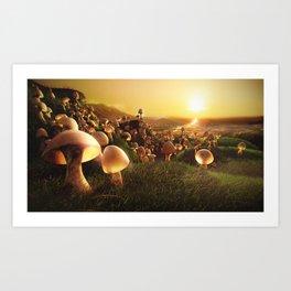 The Mushrooms are Coming Art Print