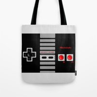 nintendo Tote Bags featuring Nintendo Controller by Janismarika