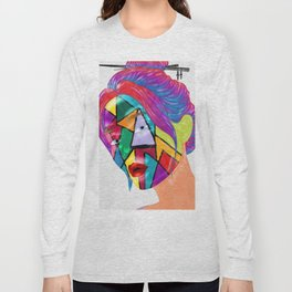 Portrait of Face Mask Long Sleeve T-shirt