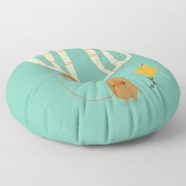 A moose ing Floor Pillow