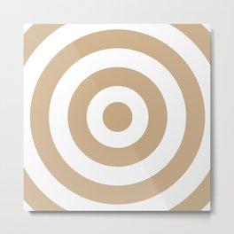 Target (Tan & White Pattern) Metal Print