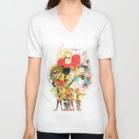 pixar V-neck T-shirts featuring Disney Pixar Play Parade - Incredibles Unit by Joey Noble