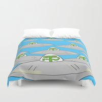 aliens Duvet Covers featuring Aliens by David Abse