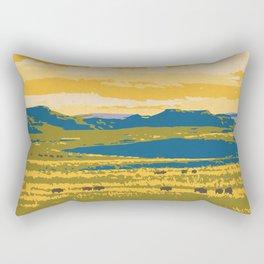 Grasslands National Park Poster Rectangular Pillow