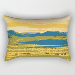 Grasslands National Park Poster Rectangular Pillow
