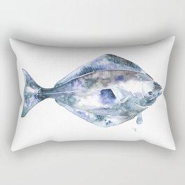 Flat Fish Watercolor Rectangular Pillow