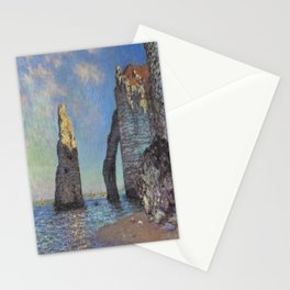 Claude Monet's The Cliffs at Etretat Stationery Cards