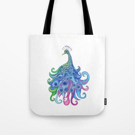 Peaceful Peacock Tote Bag
