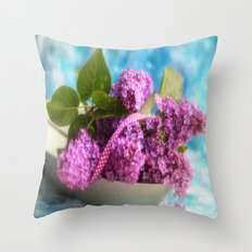 Syringa vulgaris #lilac still life Throw Pillow