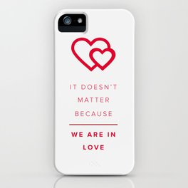 Love iPhone Case
