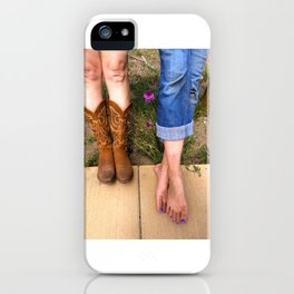 Boots or Bare Feet iPhone Case