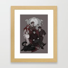 Woland and his retinue Framed Art Print