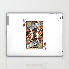 Horror Skeleton King Playing Card Picture Laptop & iPad Skin