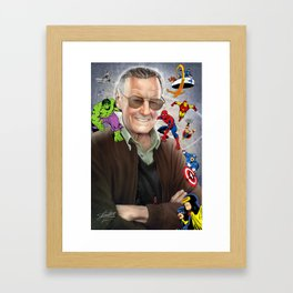 Stan Lee - Marvelous Creations Framed Art Print