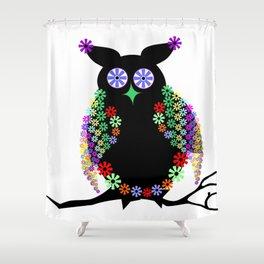 Owl eagle owl bird feather Shower Curtain