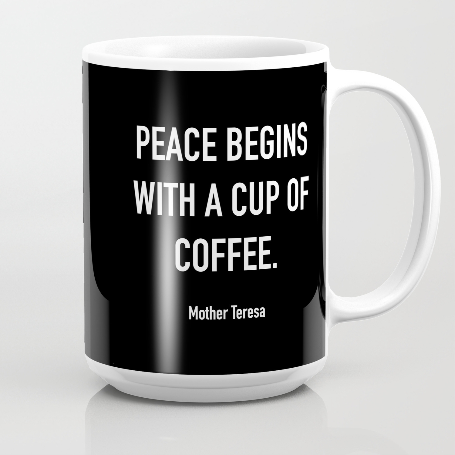 peace begins a cup of coffee coffee mug by dark roast quotes
