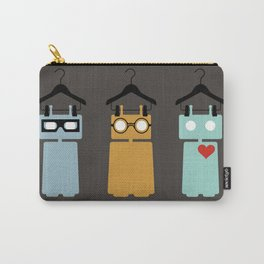 Robots on hangers - red heart Carry-All Pouch
