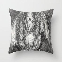 The Sleeper Cthulhu Throw Pillow
