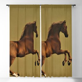 Classical Masterpiece Circa 1762 Racehorse Whistlejacket Rearing Up by George Stubbs Blackout Curtain