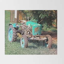 Old traditional Lindner tractor | conceptual photography Throw Blanket