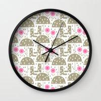 rain Wall Clocks featuring Rain by ottomanbrim