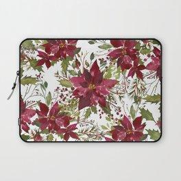 Poinsettia Flowers Laptop Sleeve