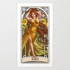 Zodiac Art Show - Leo Art Print
