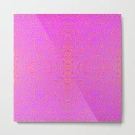 violet and orange field Metal Print