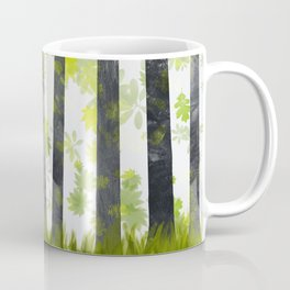 Trees, herbs and leaves in the forest Coffee Mug