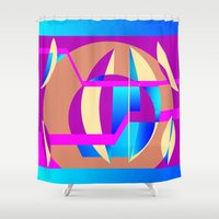 celestial Shower Curtains featuring Celestial by MZ Designs